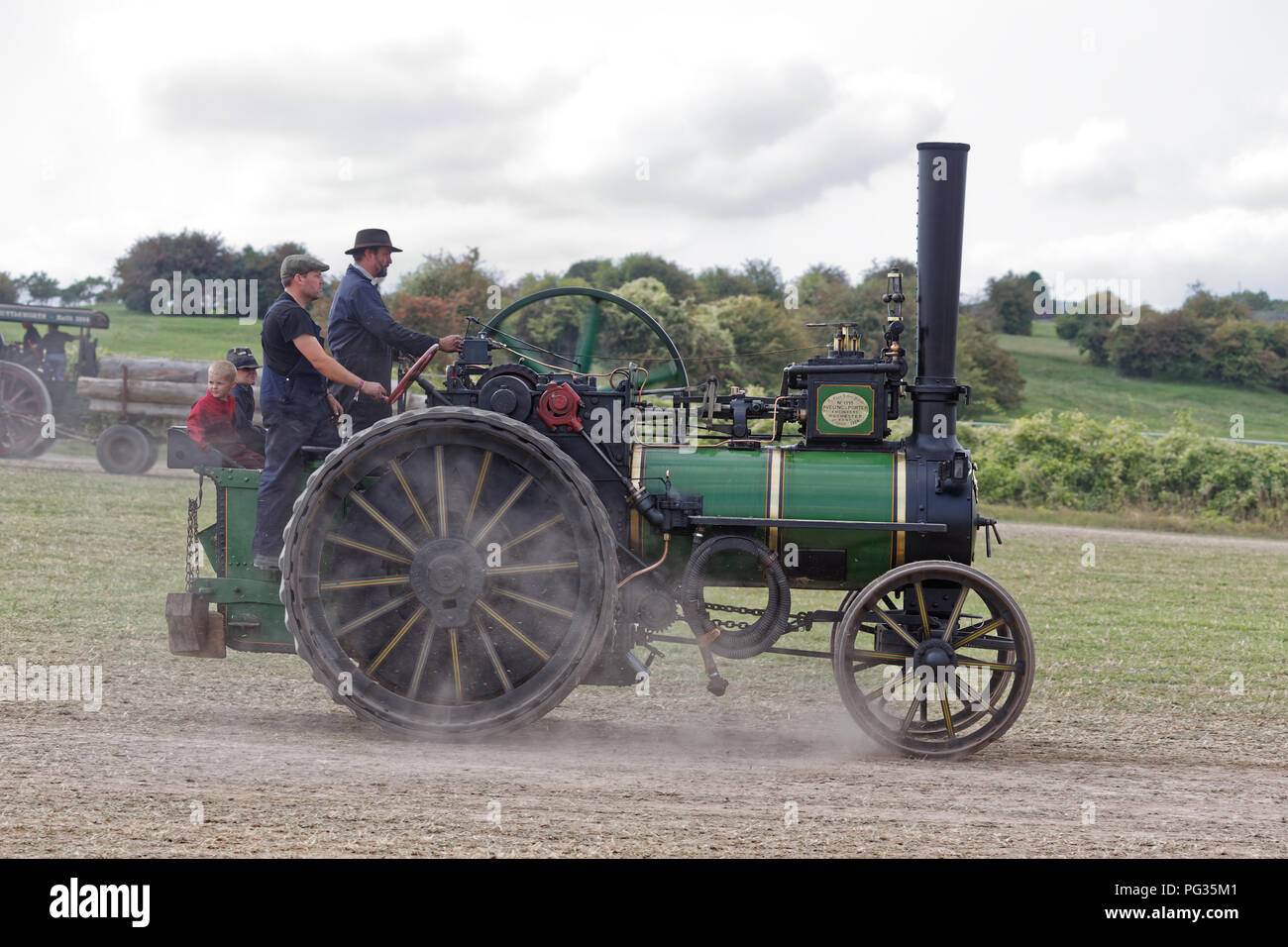 Great Dorset Steam Fair, Blandford, Dorset, UK. 23rd August 2018. Historic steam engines underway at the show. Wyrdlight / Alamy Live News - Stock Image