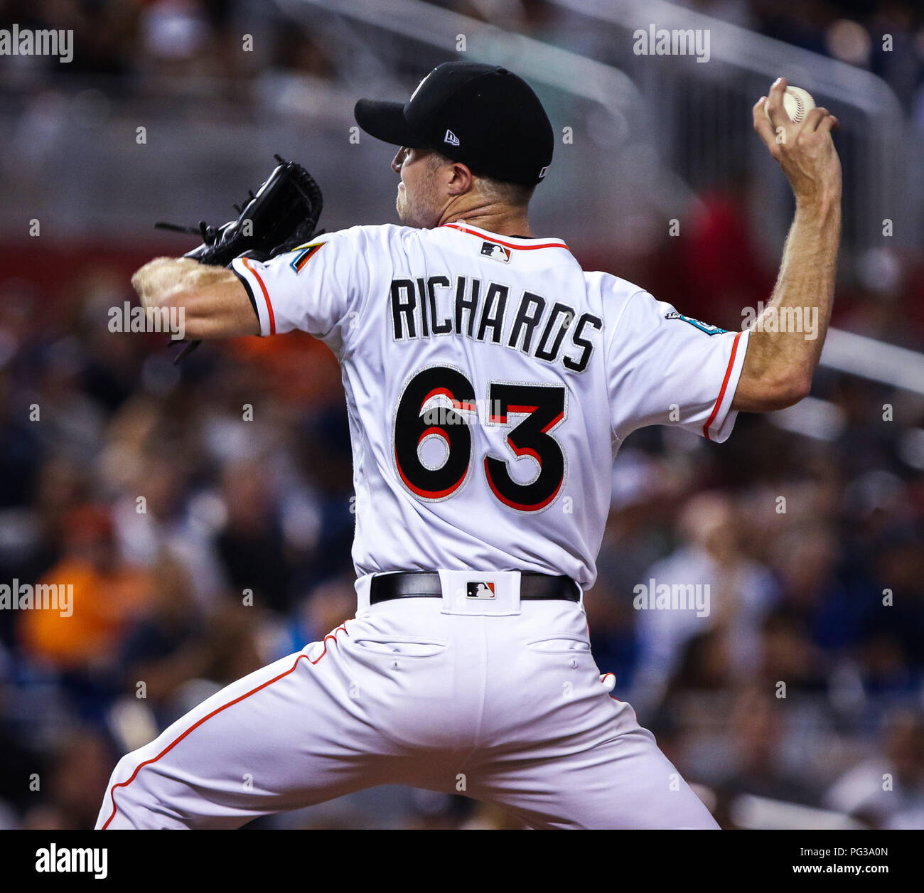timeless design 73c88 54f10 August 22, 2018: Miami Marlins starting pitcher Trevor ...