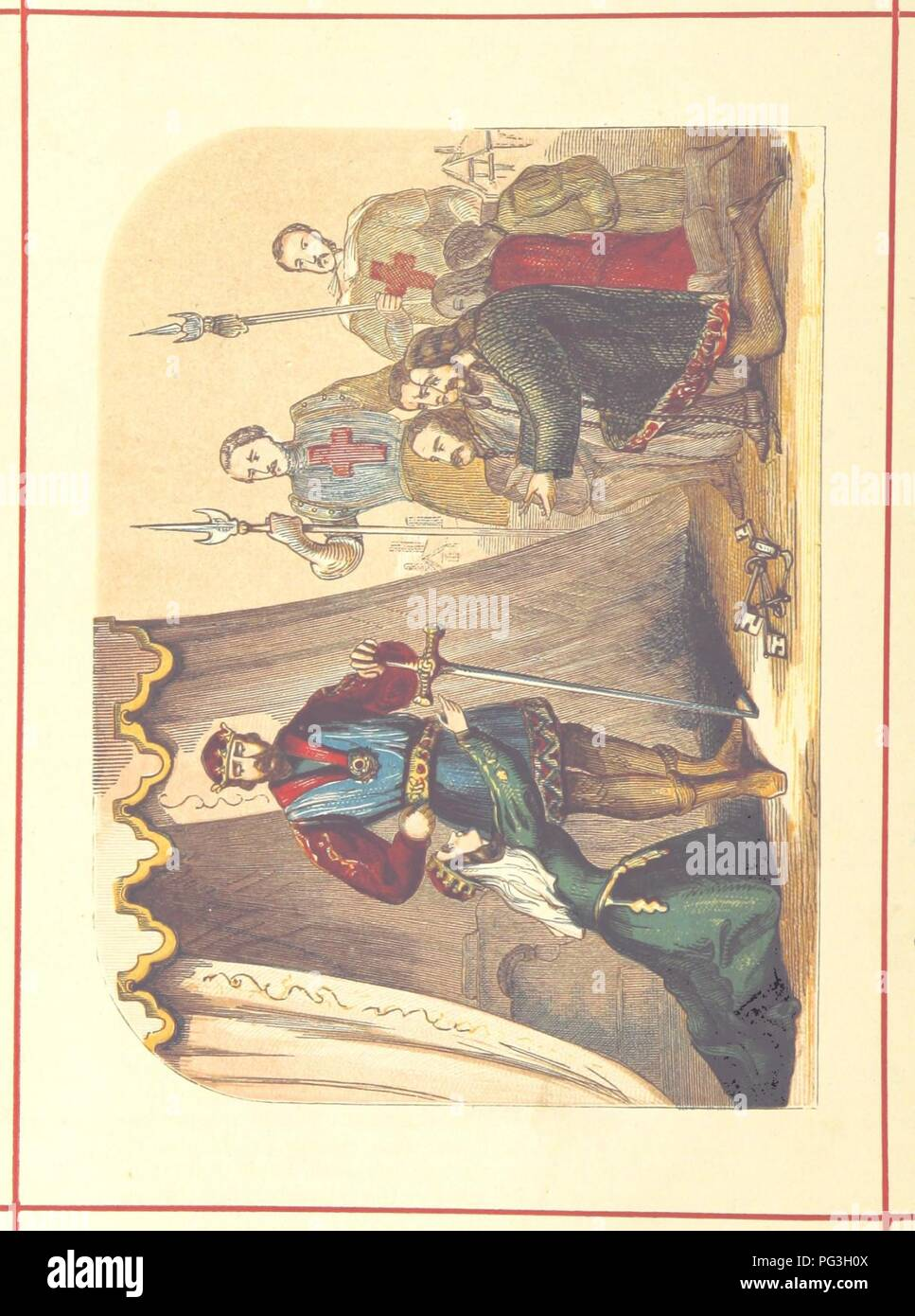 Image  from page 316 of 'Hanes Prydain Fawr o'r cyfnod boreuaf hyd yr amser presenol, etc. [With plates.]' . - Stock Image