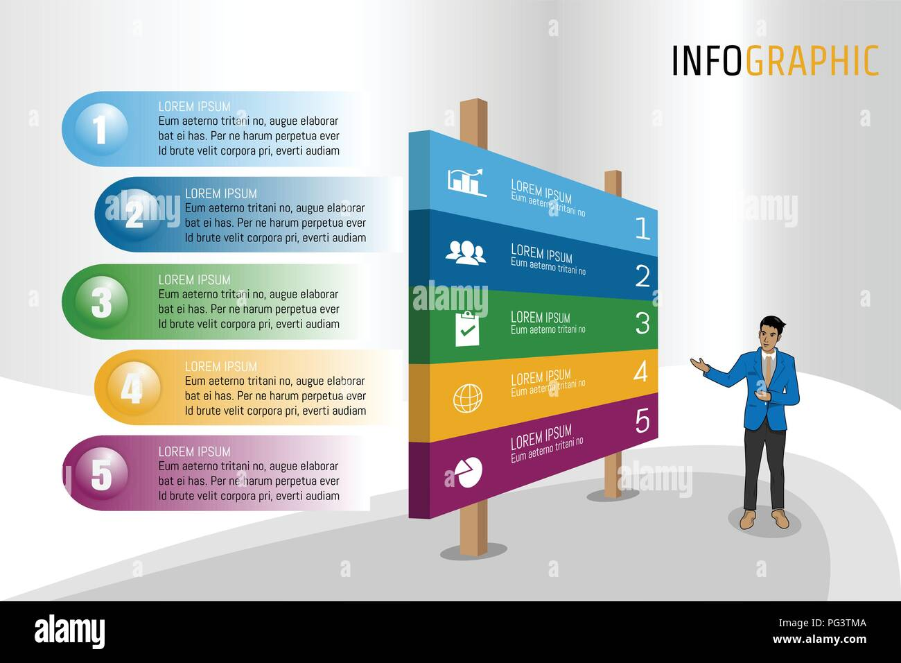 vector illustration infographic template in isomatic banner layout
