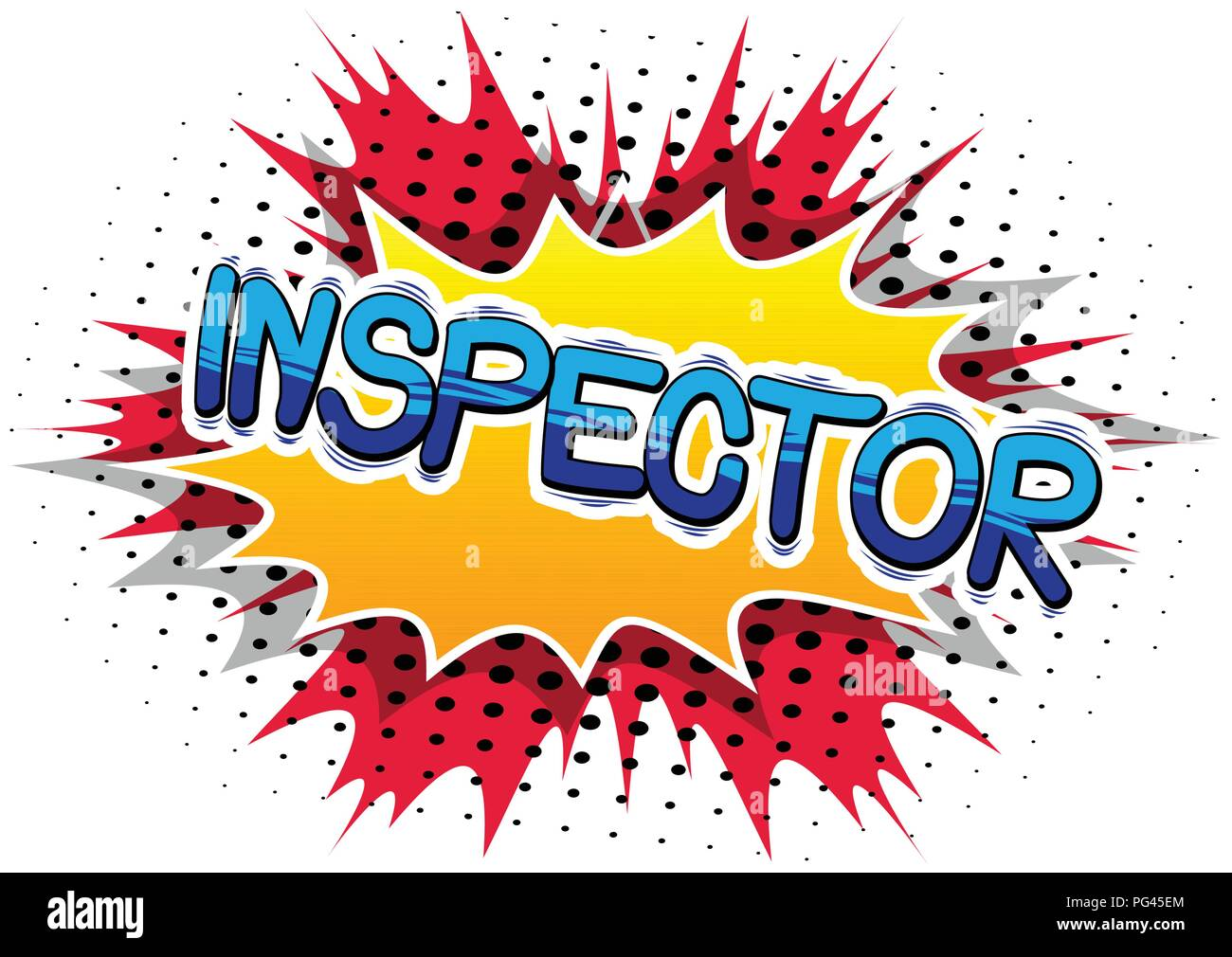 Inspector - Vector illustrated comic book style phrase. Stock Vector