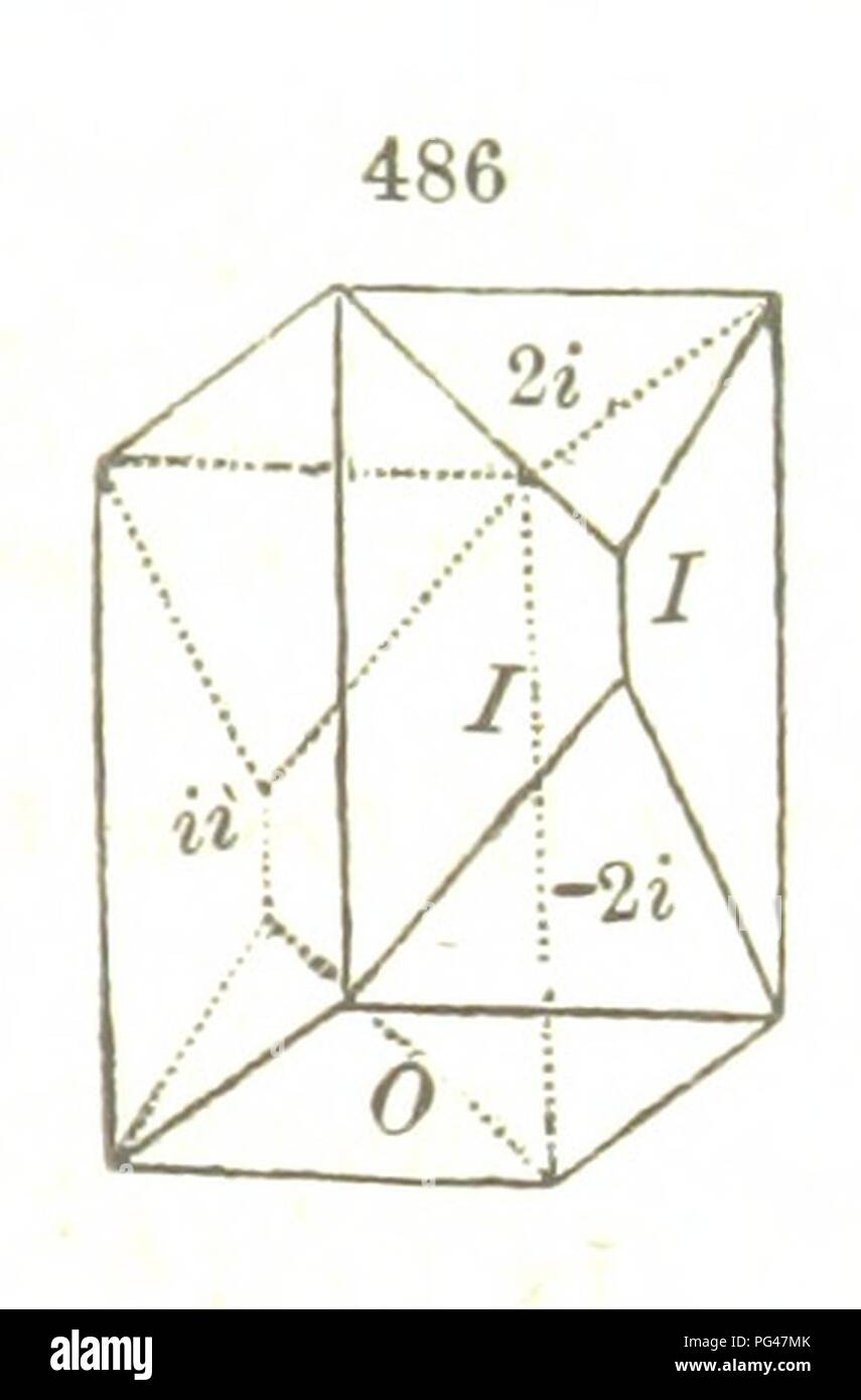Image  from page 659 of 'A System of Mineralogy, comprising the most recent discoveries ... Fourth edition, rewritten, rearranged, and enlarged' . - Stock Image