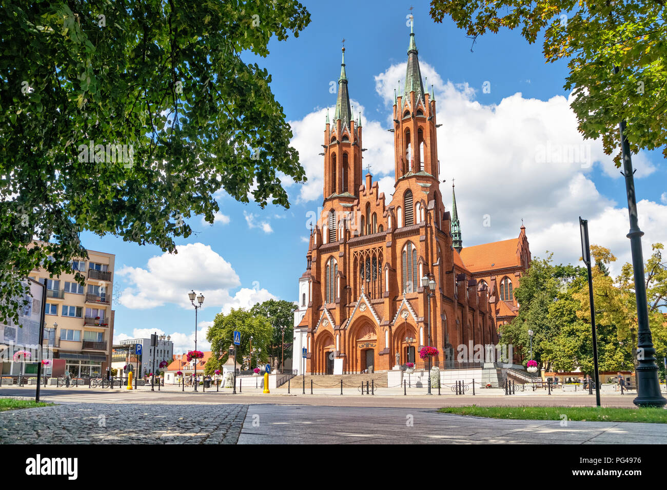 Basilica of the Assumption of the Blessed Virgin Mary in Bialystok, Podlaskie Voivodeship, Poland - Stock Image