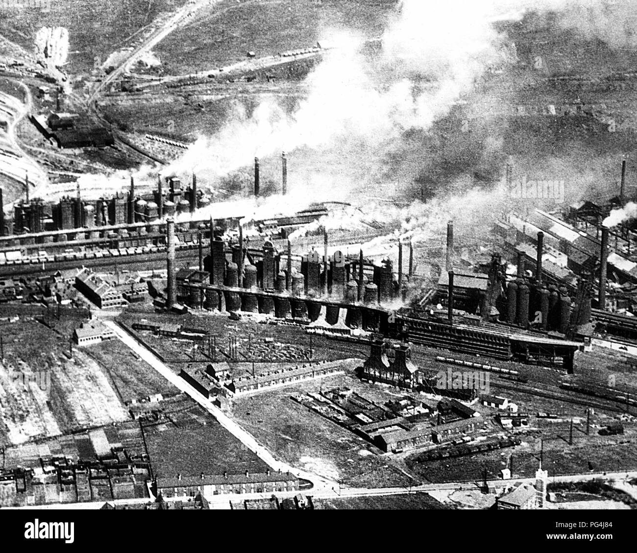 Middlesbrough Steel Works, early 1900s - Stock Image