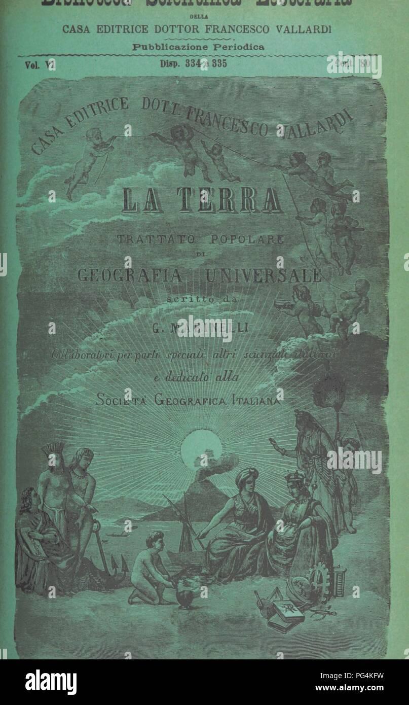 Image  from page 1309 of 'La Terra, trattato popolare di geografia universale per G. Marinelli ed altri scienziati italiani, etc. [With illustrations and maps.]' . Stock Photo