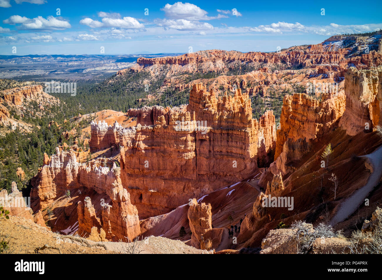 Natural rock formation of the famous site of Bryce Canyon National Park Stock Photo