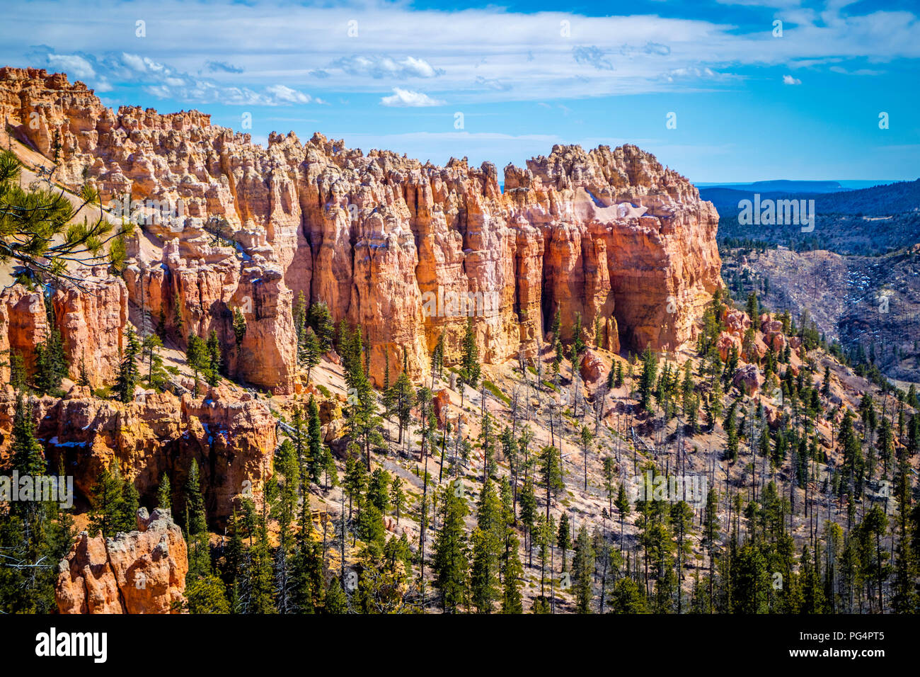 Natural rock formation of the famous site of Bryce Canyon National Park - Stock Image