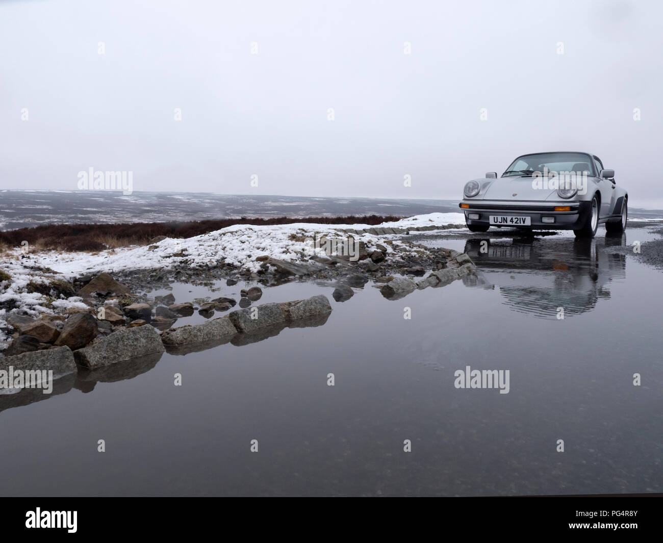 1979 Porsche 911 Turbo. North York Moors UK - Stock Image