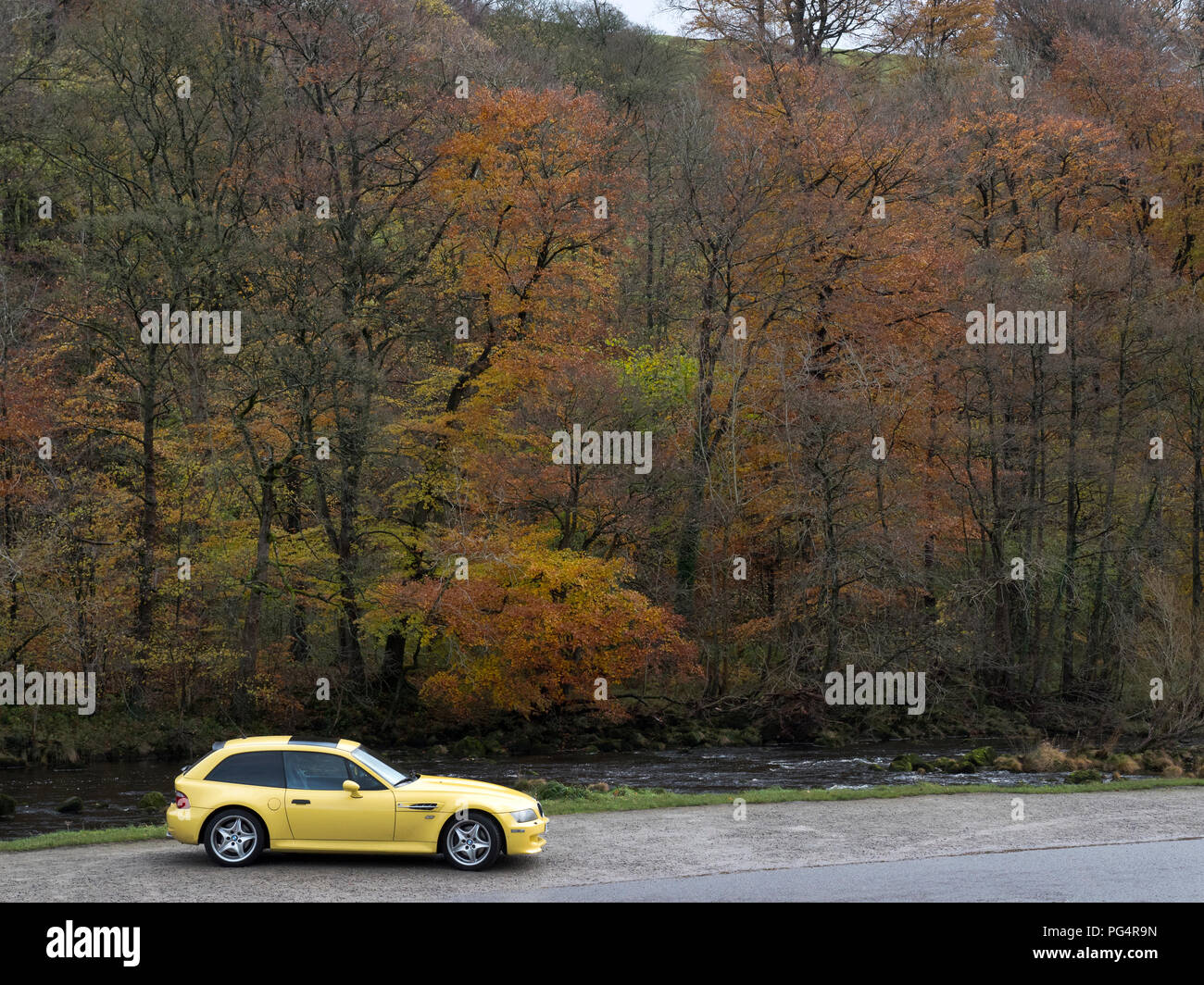 BMW Z3M Coupe at Bolton Abbey North Yorkshire - Stock Image