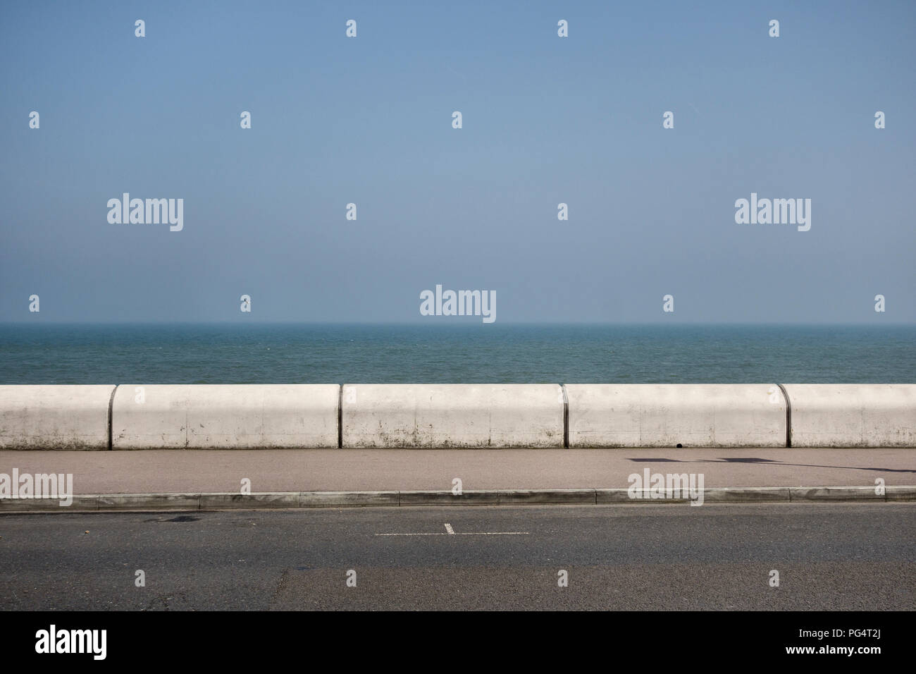 The seafront at Deal, Kent, UK - Stock Image