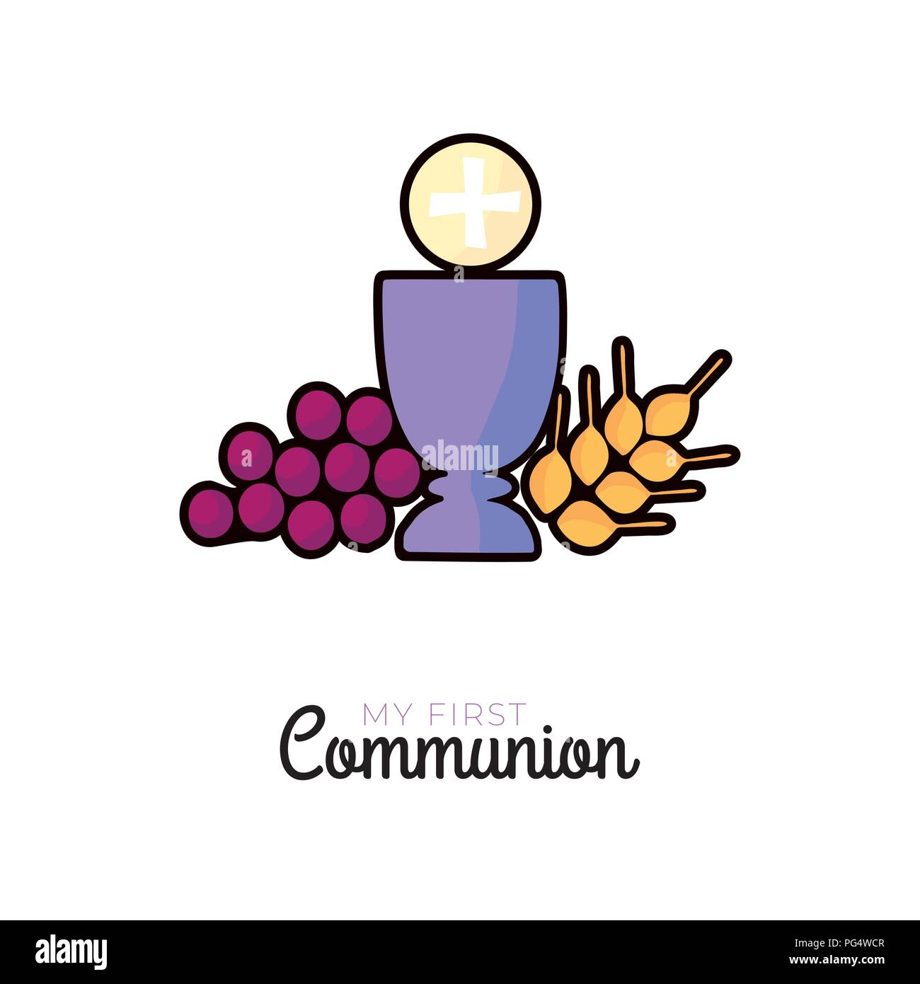 First Communion Symbols For A Nice Invitation Design Church And