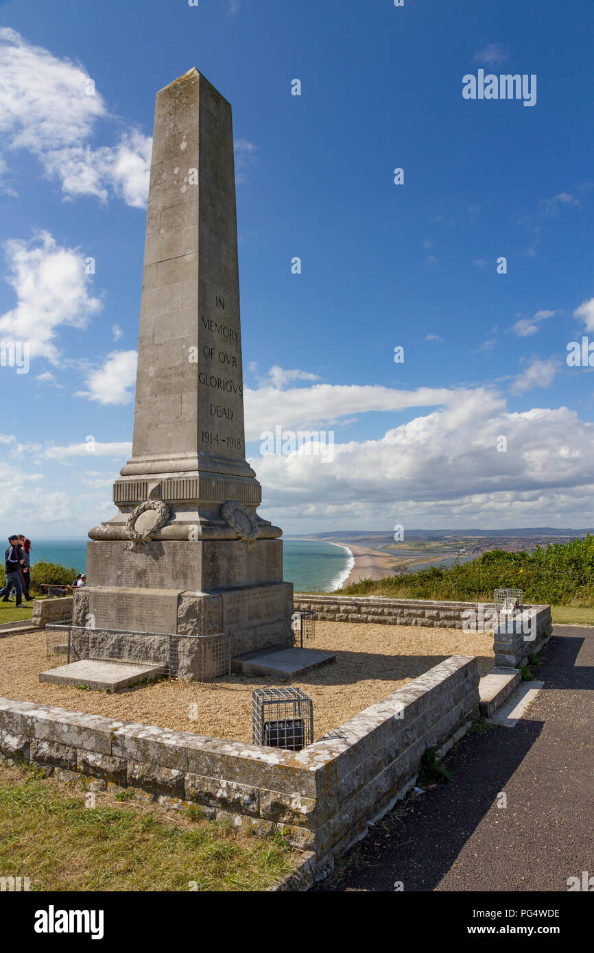 Portland Cenotaph War Memorial on the Isle of Portland, Dorset - Stock Image