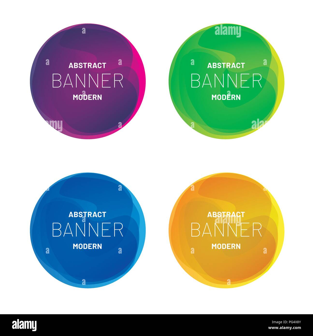 Abstract modern banner collection. Vector design for bussiness presentations, flyers, posters - Stock Vector