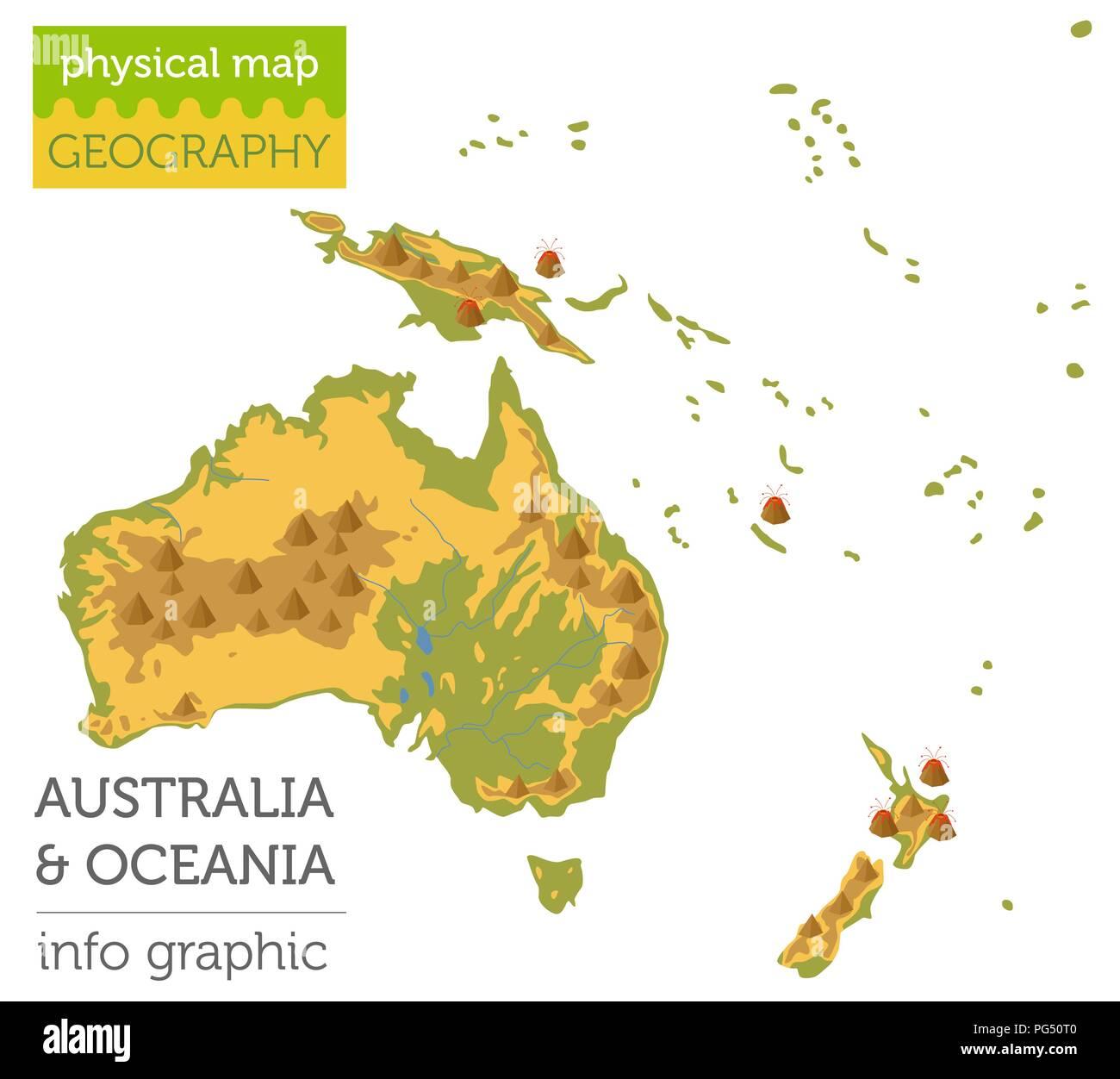 Australia Oceania: Australasia Map Stock Photos & Australasia Map Stock
