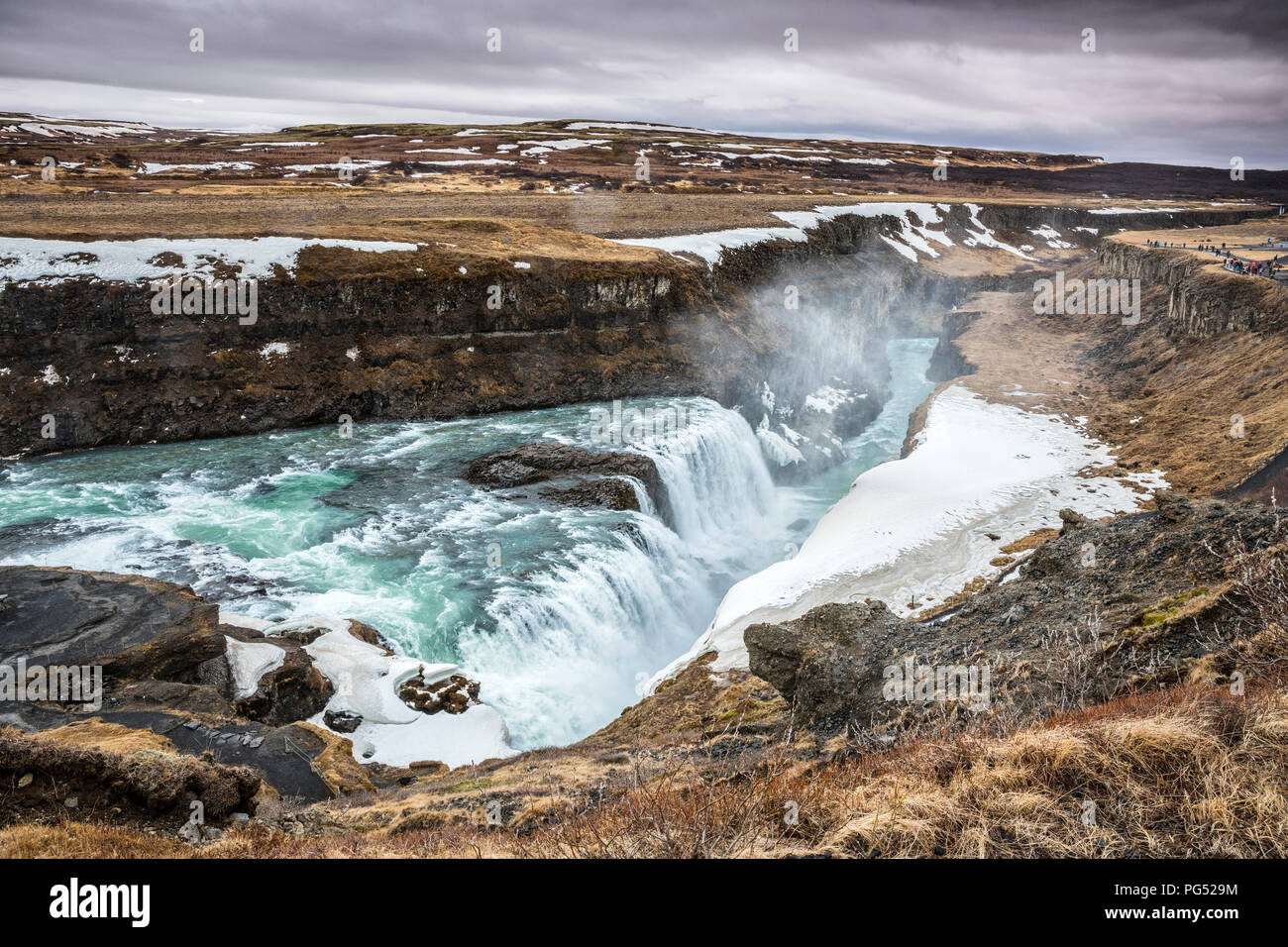 Gullfoss waterfall, Iceland Stock Photo