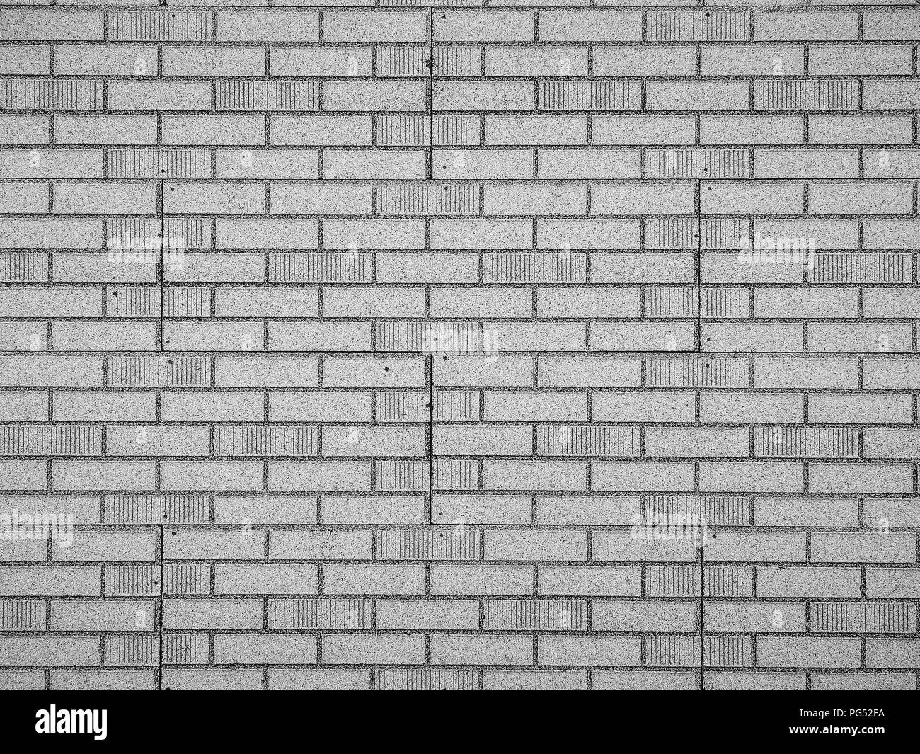 Brick wall in black and white - Stock Image