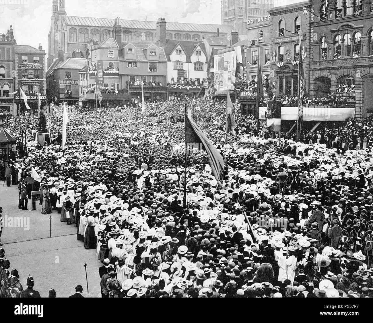 Queen Victoria's Jubilee Celebrations, Norwich, Victorian period - Stock Image