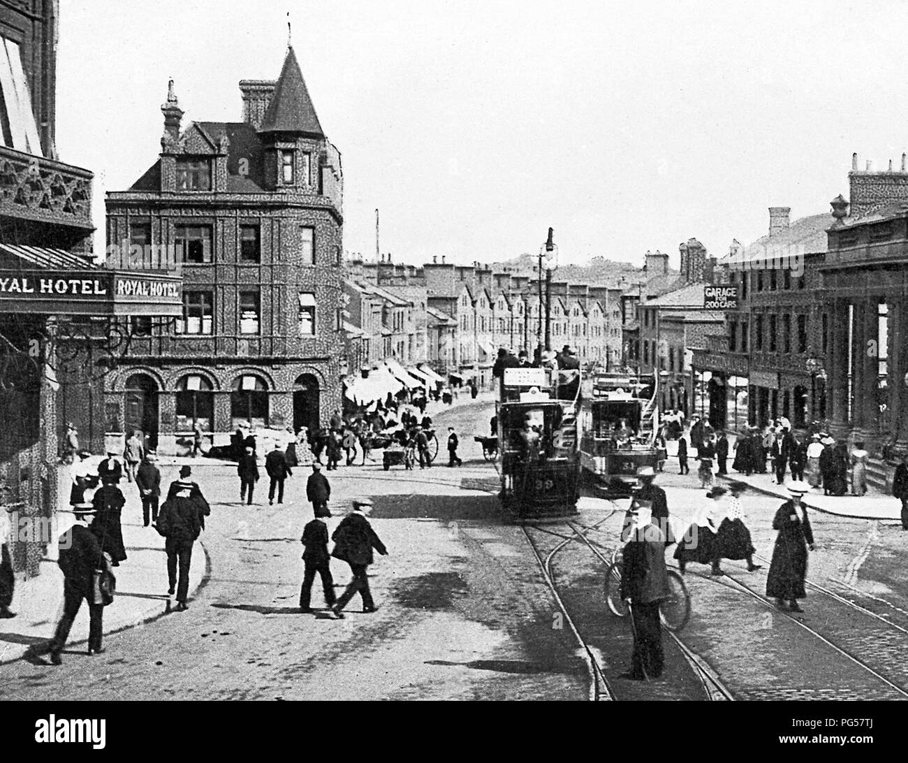 Prince of Wales Road, Norwich, early 1900s - Stock Image