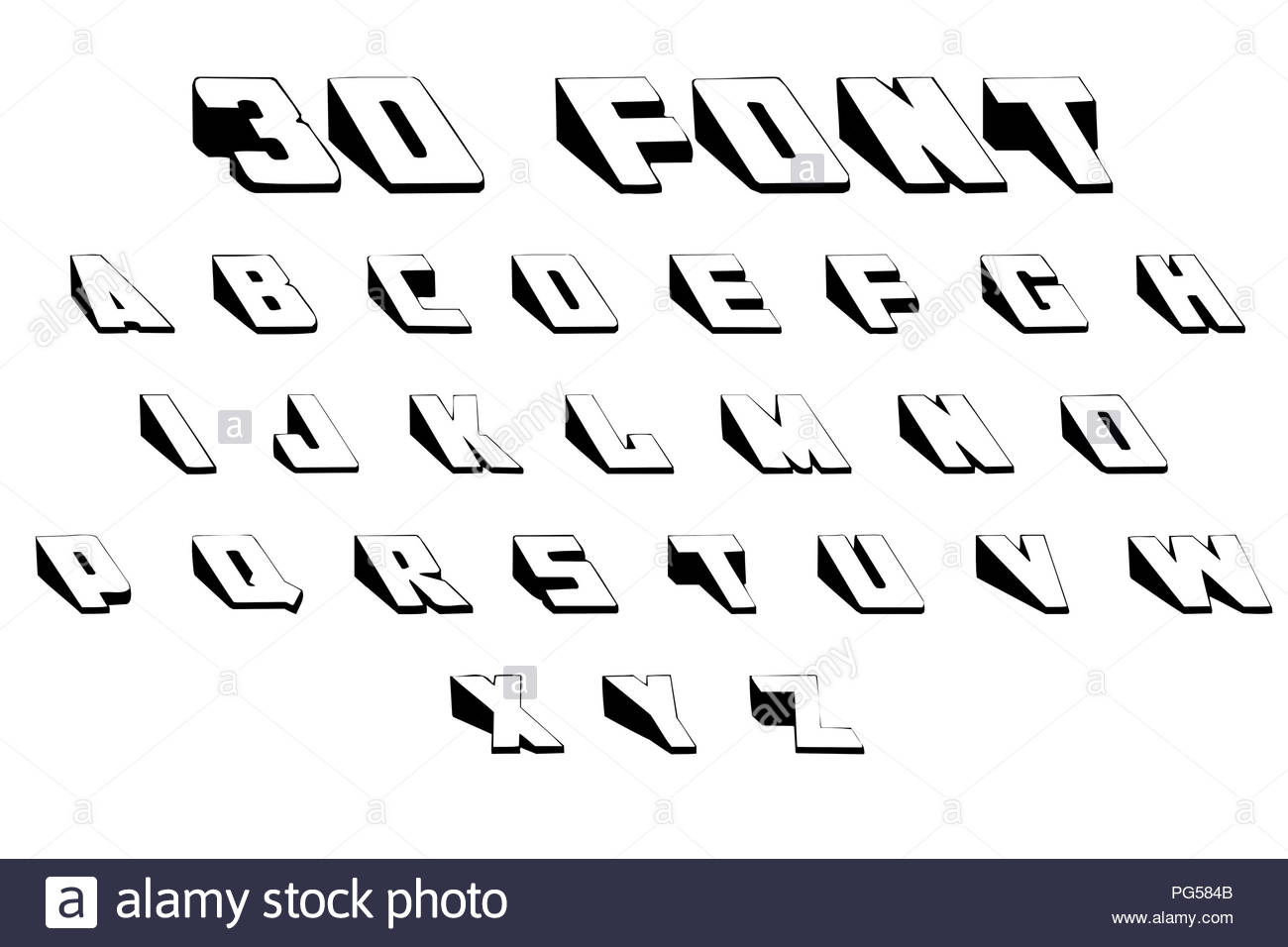3d Font Alphabet Stock Photo 216475067 Alamy