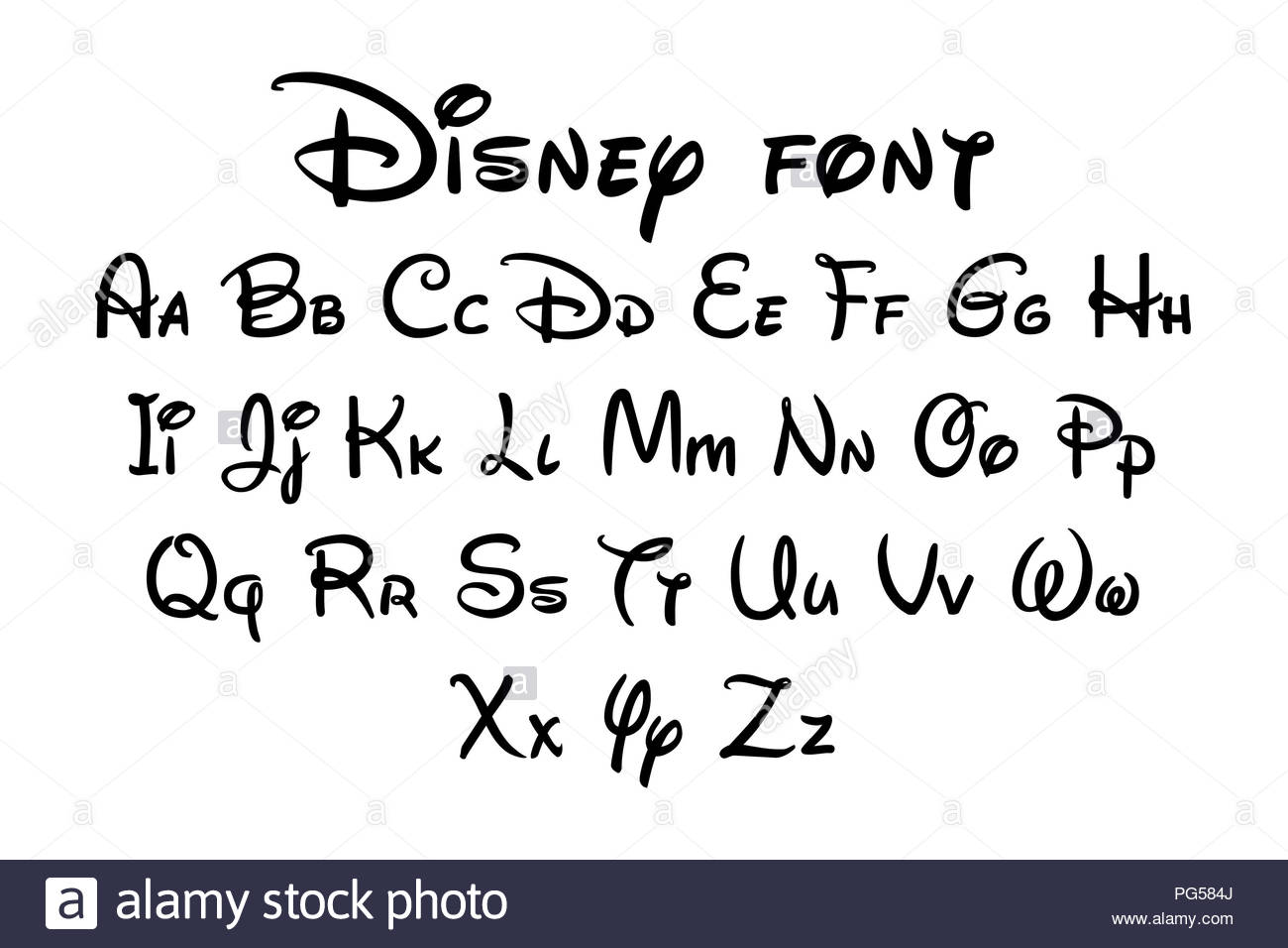 disney letter font disney font alphabet stock photo 216475074 alamy 2602