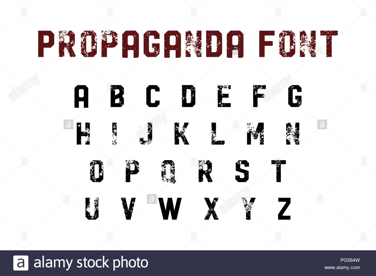 propaganda font - Stock Image