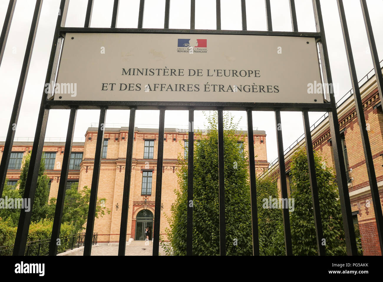 Ministry of Europe and Foreign Affairs, Quai d'Orsay, Paris, France - Stock Image
