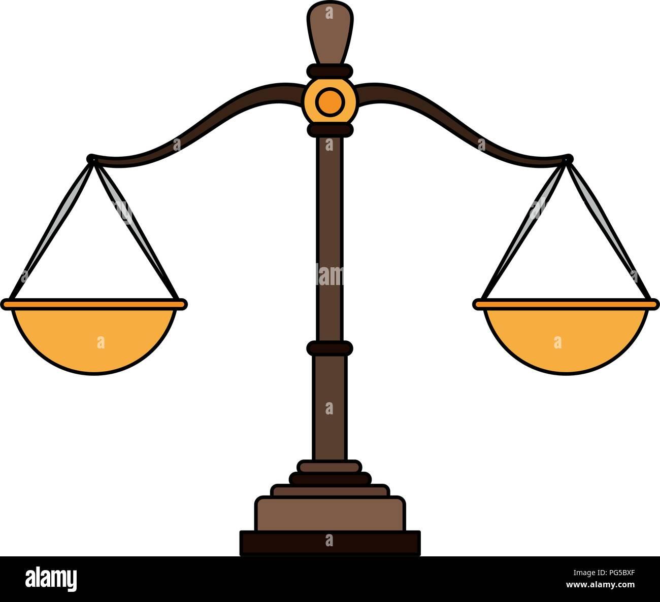 Justice balance symbol - Stock Vector