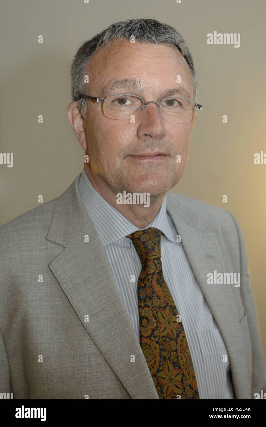 Berlin, DEU, 29.04.2015: Portrait Michael Lueders, Islam scientist, Middle East expert, political and economic consultant, publicist and author - Stock Image
