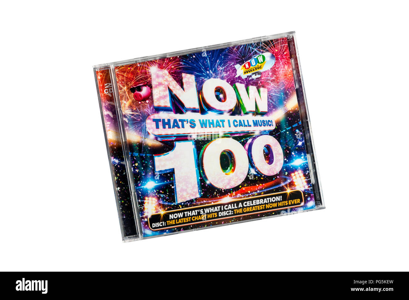 Now That's What I Call Music 100 was released in July 2018. - Stock Image
