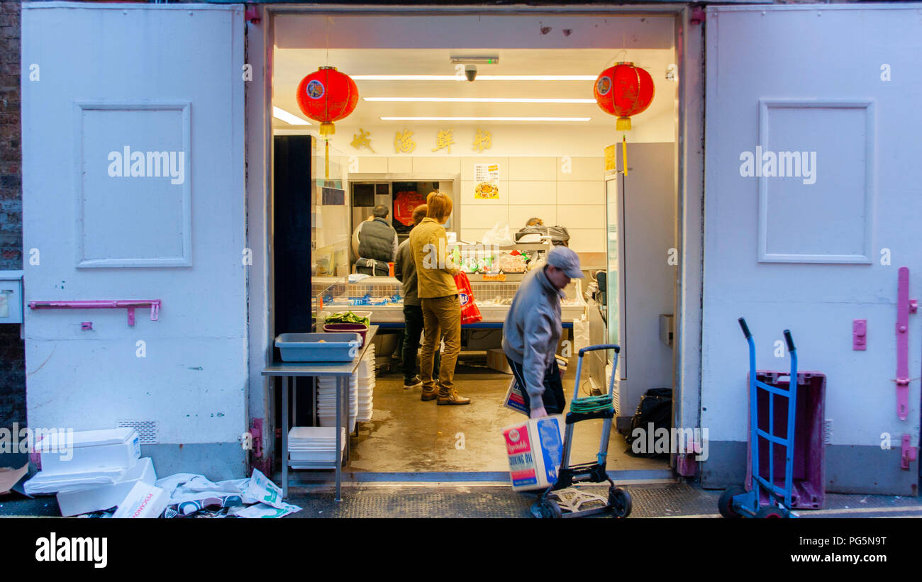 London and china town London - Stock Image