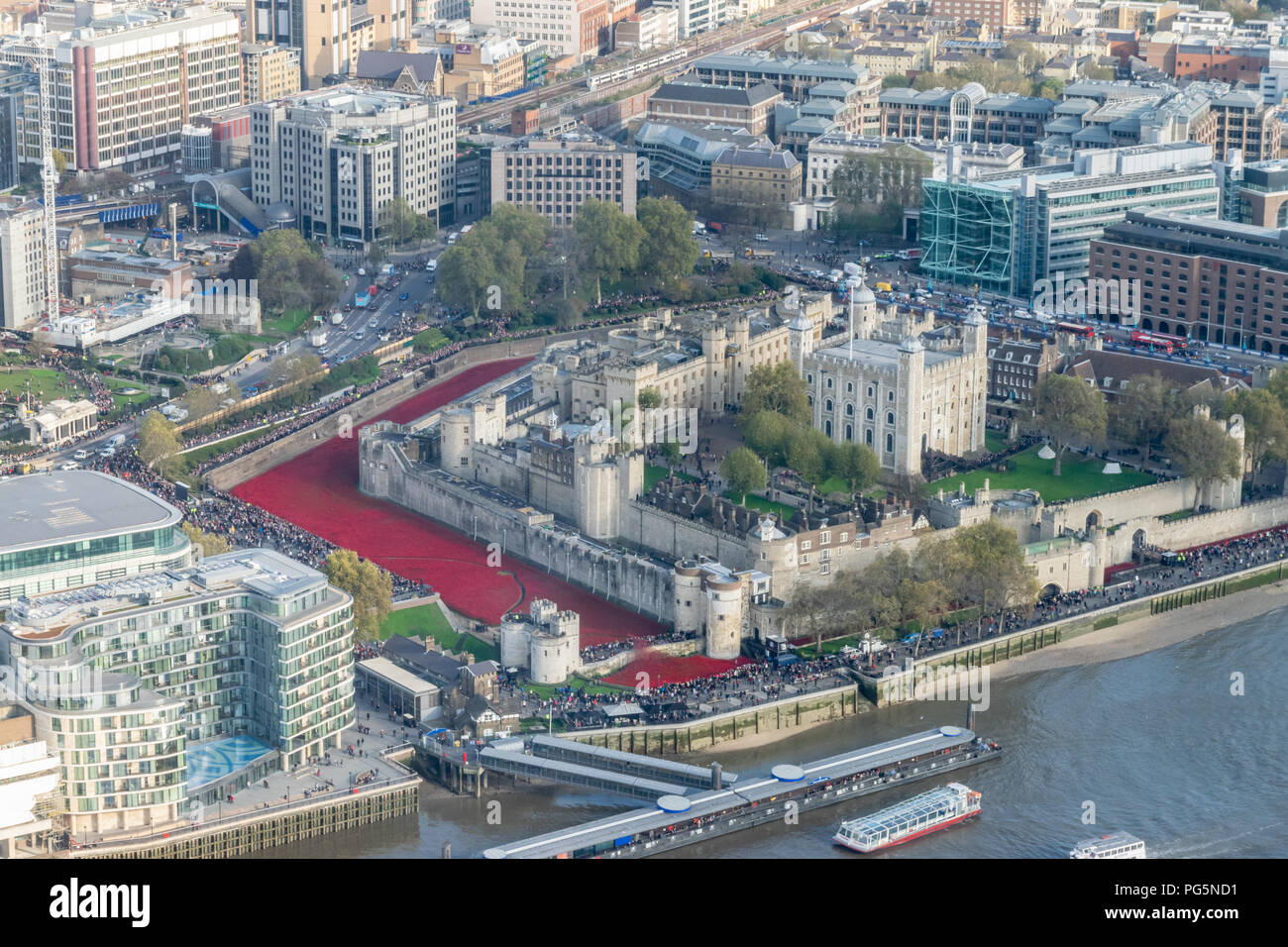 Blood Swept Lands and Seas of Red, Tower of London Stock Photo