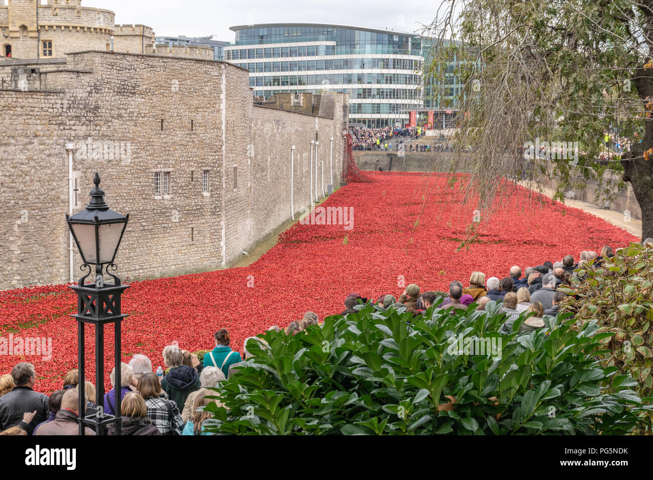 Blood Swept Lands and Seas of Red, Tower of London - Stock Image
