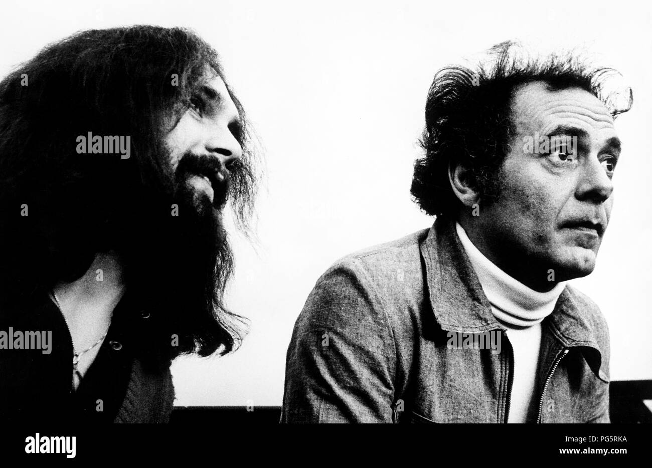 roberto gargamelli, pietro valpreda during the trial of the Piazza Fontana massacre, 1972 - Stock Image