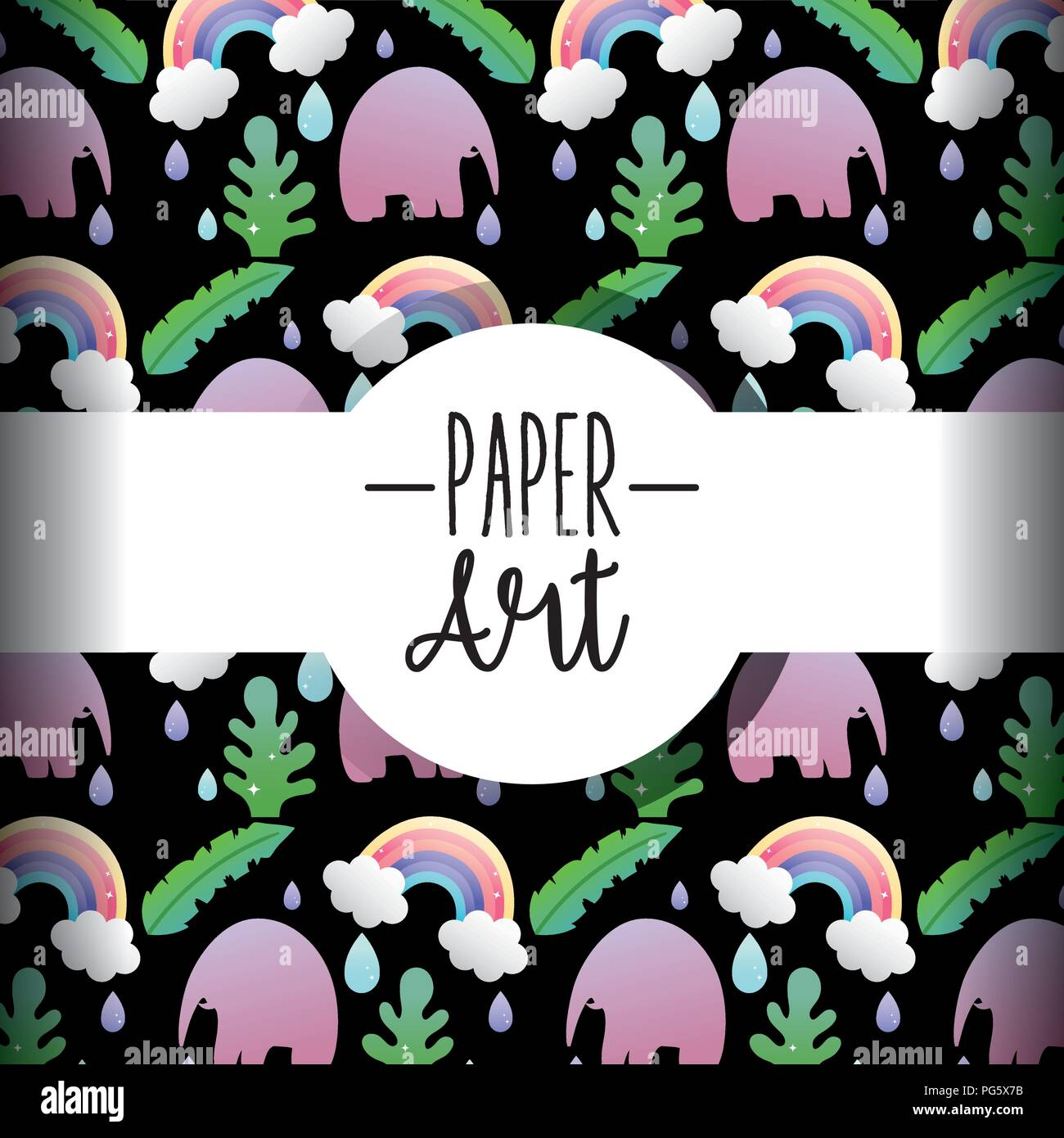 Paper art background - Stock Image