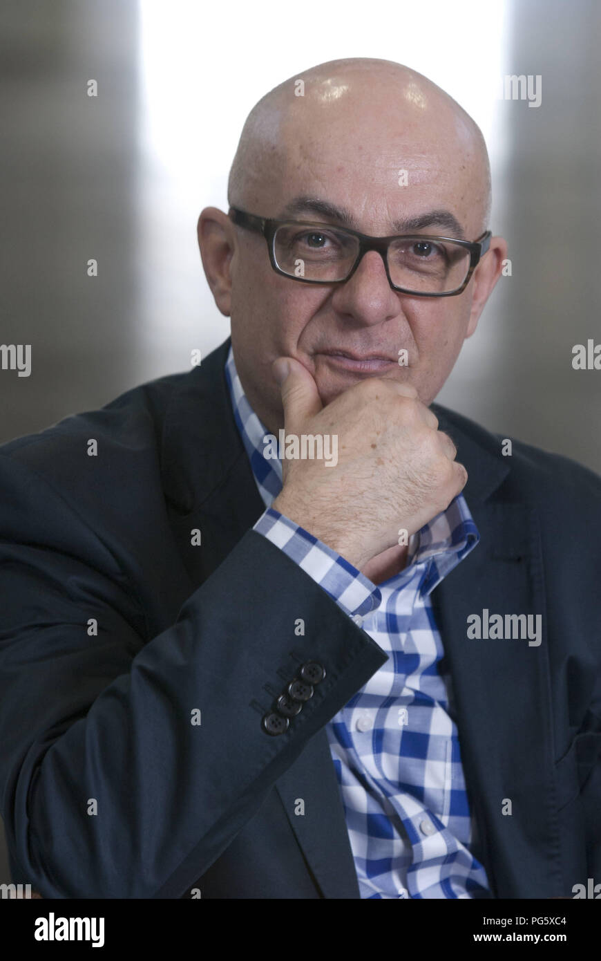 Leipzig, DEU, 16.03.2012: Portrait of Thomas Medicus publicist, and author (Germany) - Stock Image