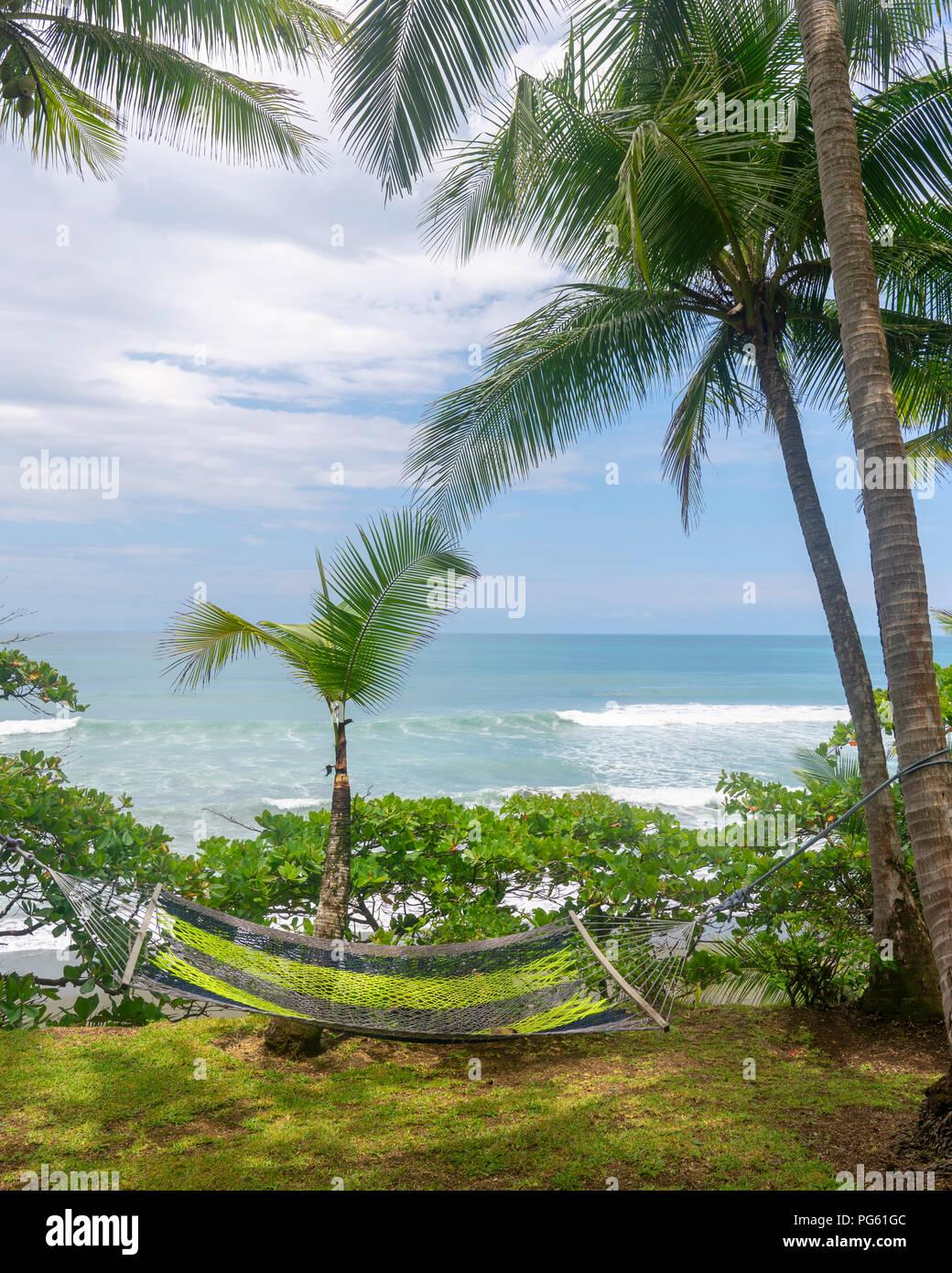 Hammock, Corcovado National Park, Osa Peninsula, Costa Rica. - Stock Image