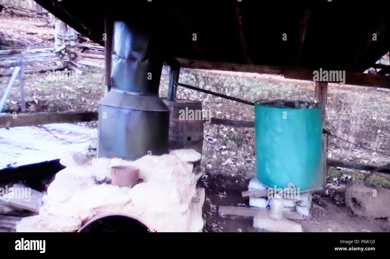 moonshine distillery - Stock Image
