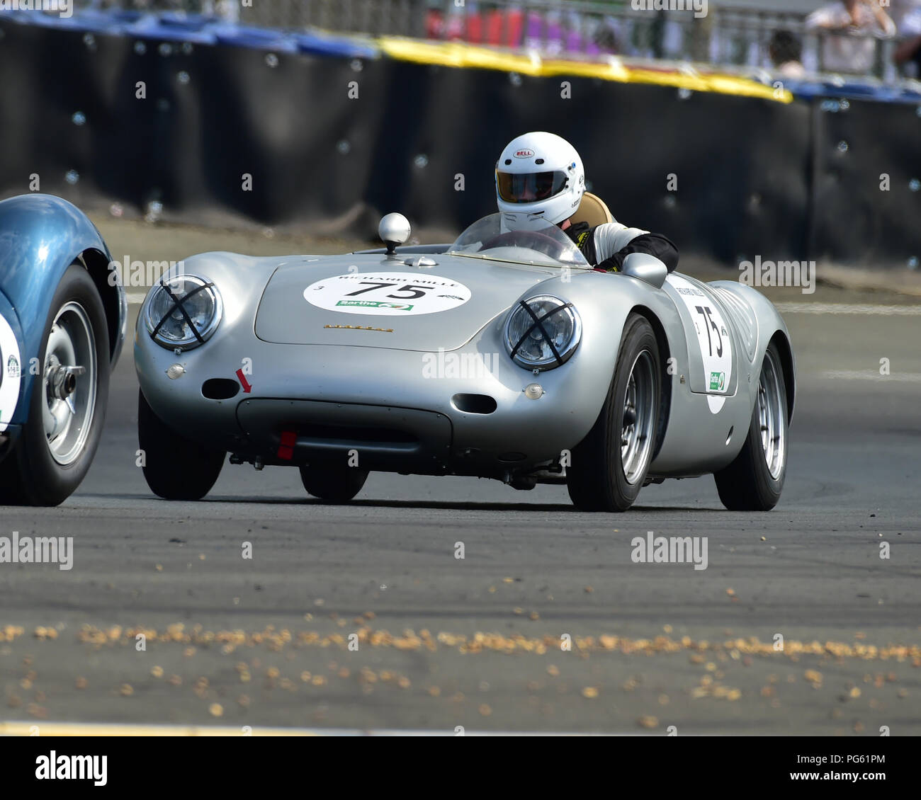 Manfred Freisinger, Porsche 550A, Plateau 3, Grid 3, Le Mans Classic 2018, July 2018, Le Mans, France, circuit racing, Classic, classic cars, Classic  - Stock Image