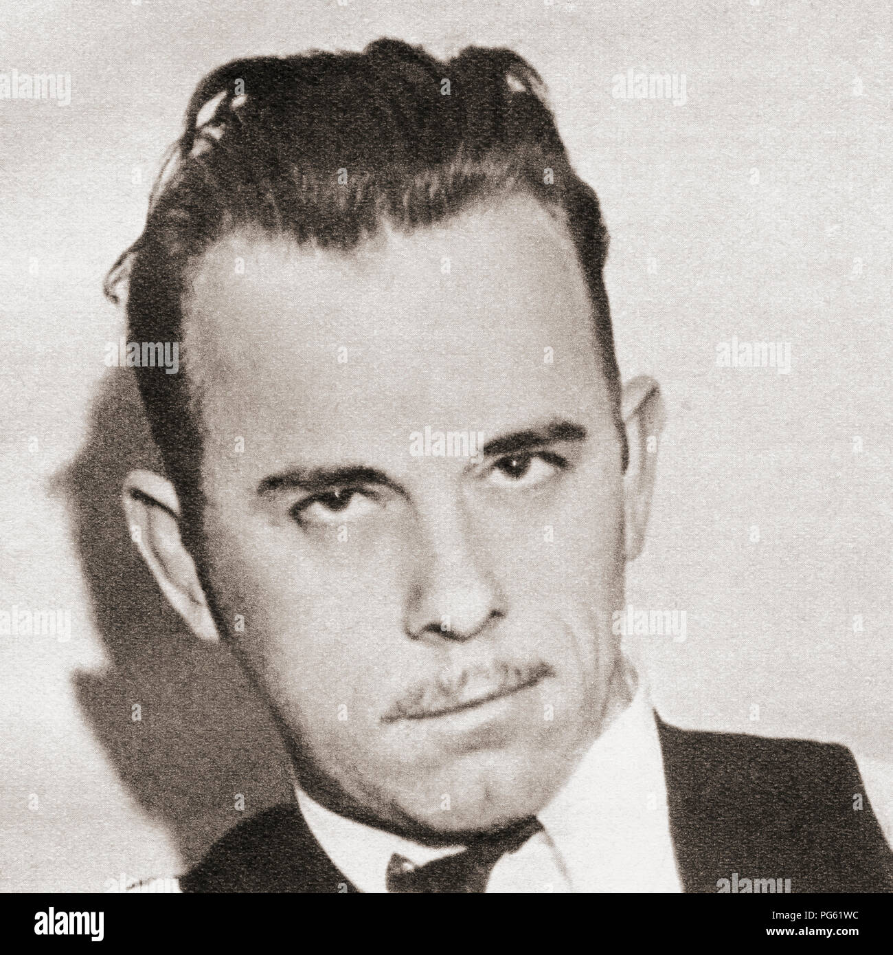 John Herbert Dillinger, 1903 – 1934.   American gangster in the Depression-era of the United States of America.  From These Tremendous Years, published 1938. - Stock Image