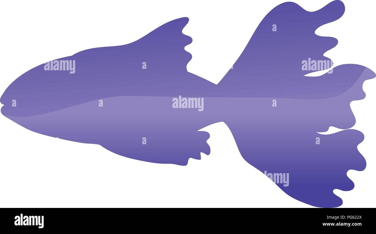tropical ballerina fish nature animal - Stock Vector