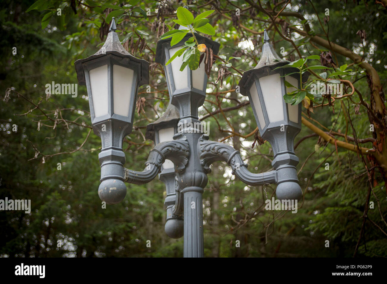 Vintage lamp post - Stock Image