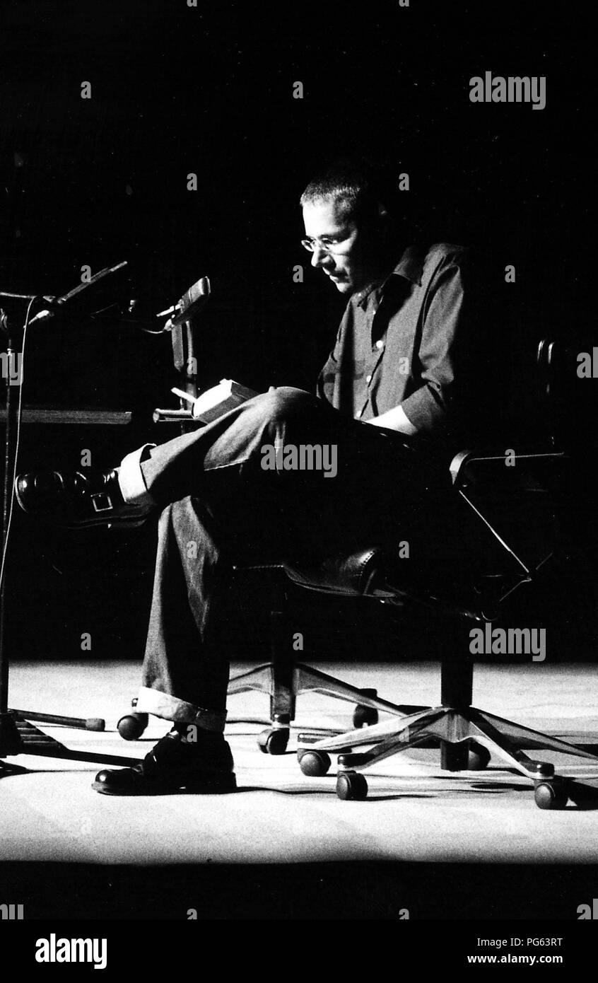 The writer Marko Martin during a reading. Stock Photo