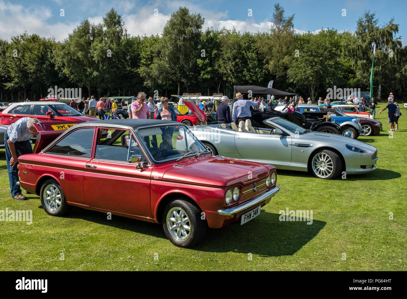 Sunbeam Stiletto at a classic car show in Wales. - Stock Image
