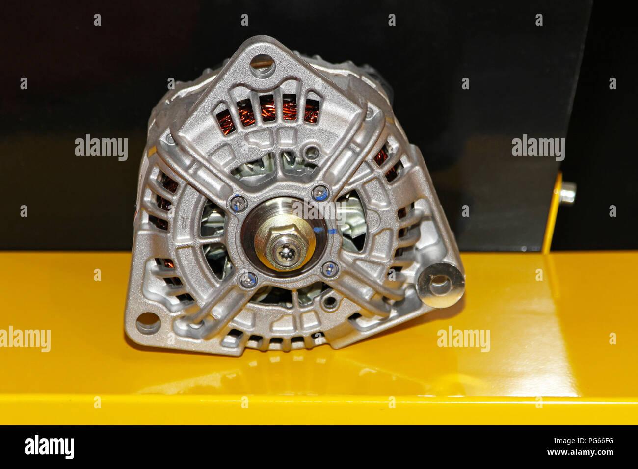 Close Up Shot Of Car Alternator Generator Stock Photo Alamy
