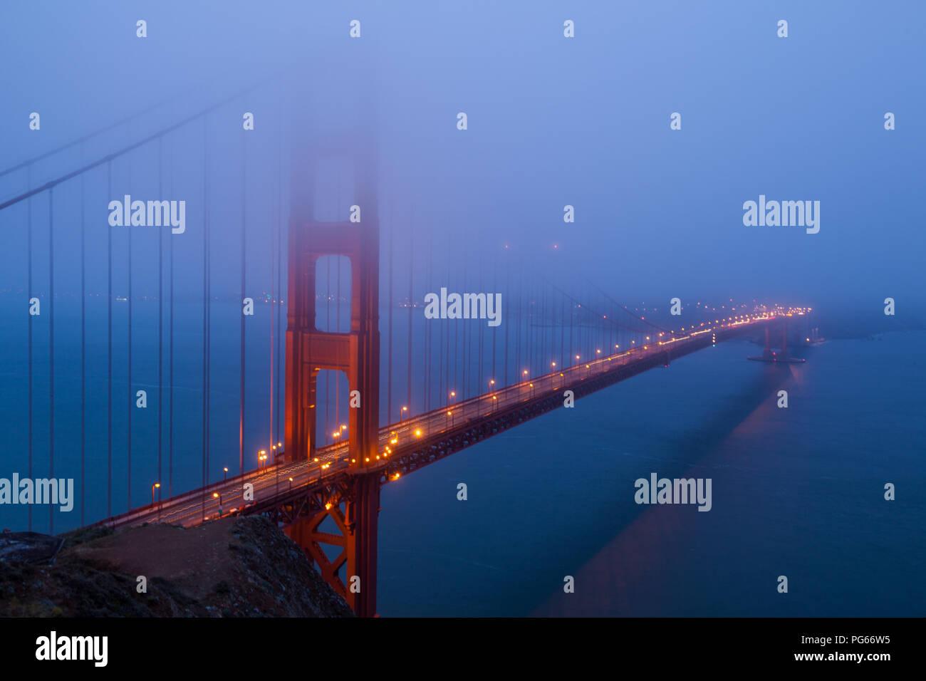 Morgens an der Golden Gate - Stock Image