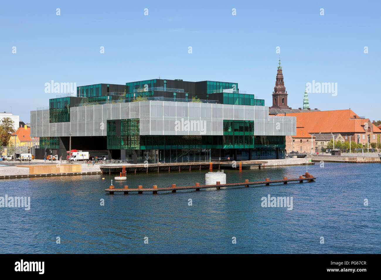 The BLOX building, a new prestige building for architecture and design on Christians Brygge in Copenhagen. Also housing the Danish Architecture Centre - Stock Image