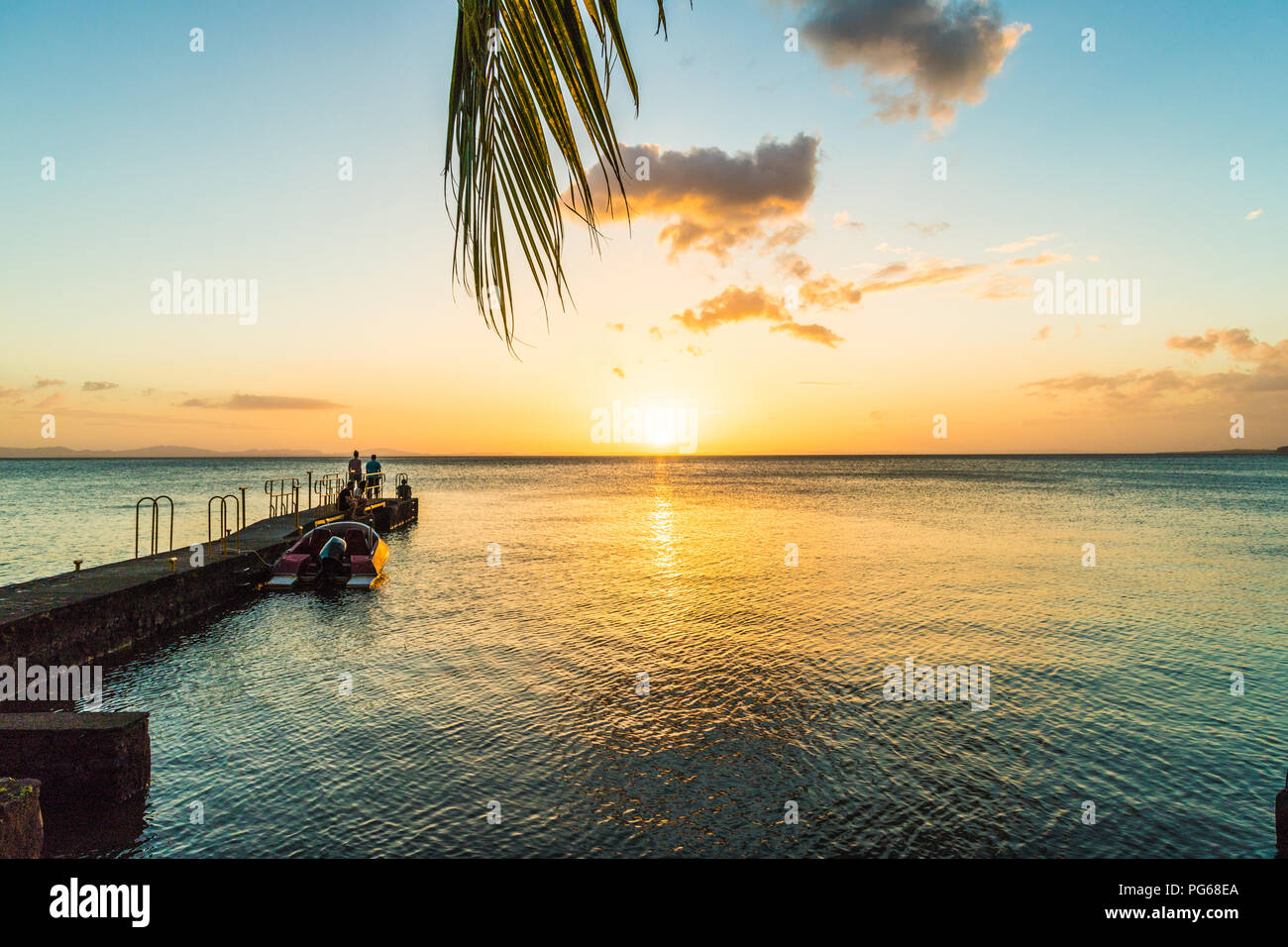 A typical view on lake Nicaragua on Ometepe in Nicaragua - Stock Image