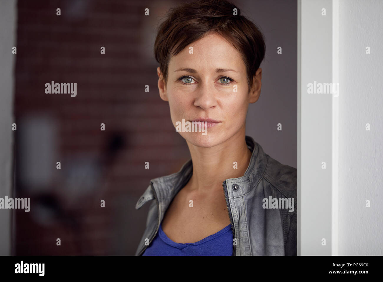 Portrait of an attractive, independent woman - Stock Image