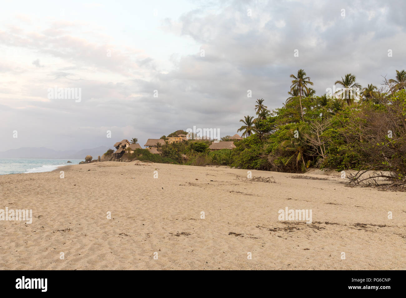 A typical view in santa Marta in Colombia. - Stock Image