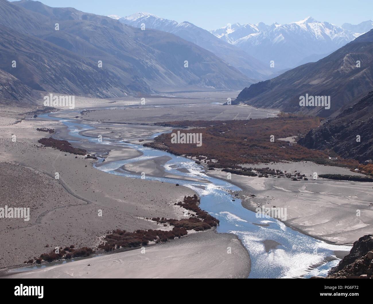 The Nubra valley, Ladakh, between the Himalayas and the Karakoram ranges - Stock Image
